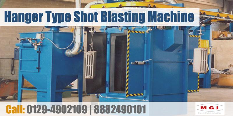 hanger type shot blasting machine in india