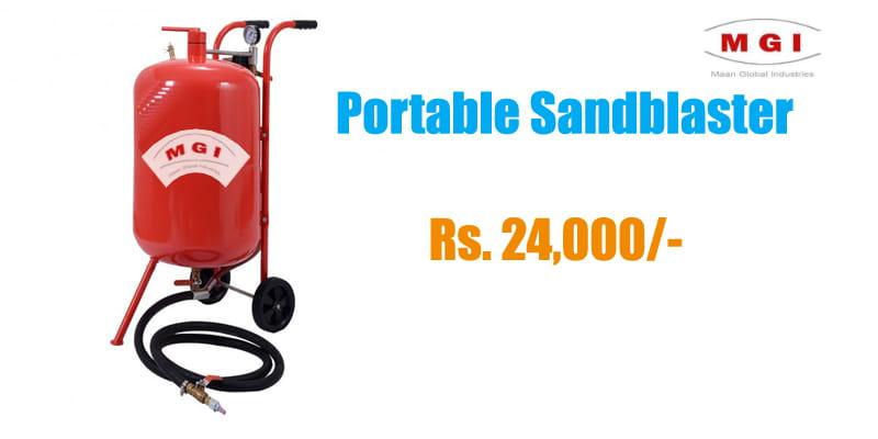 portable sandblaster sale india