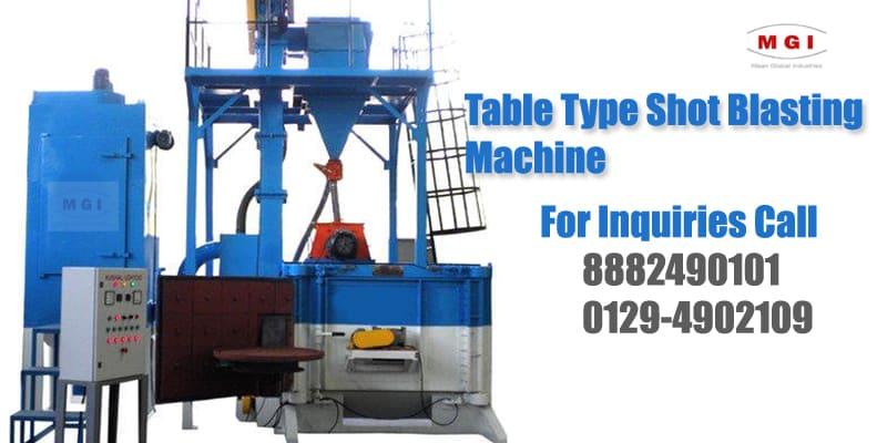 table type shot blasting machine in india