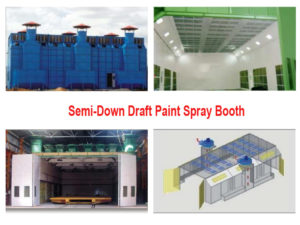 semi down draft paint booth Thailand