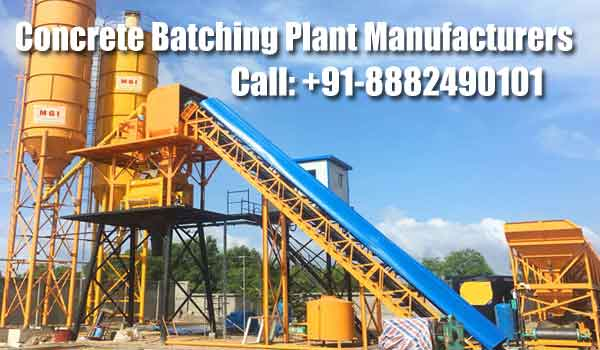 concrete batching plant manufacturer India