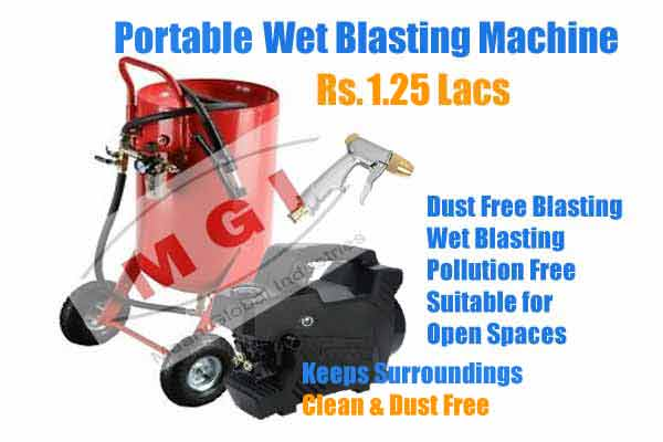 wet blasting machine