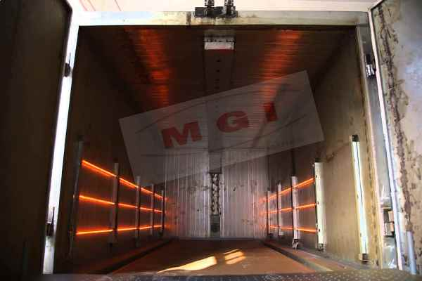 infrared powder curing oven